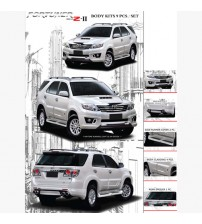 Fortuner 2011 Zercon Body Kit Set OF 9PCs